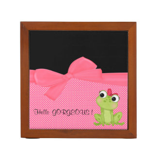 Adorable Cute Frog on Polka Dots-Hello Gorgeous Desk Organiser