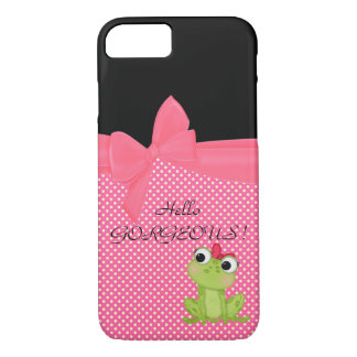 Adorable Cute Frog on Polka Dots-Hello Gorgeous iPhone 8/7 Case