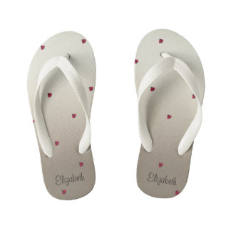Adorable Cute ,Ladybug,Luminous-Personalized Kid's Flip Flops