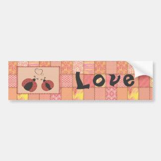 Adorable cute ladybugs in love bumper sticker