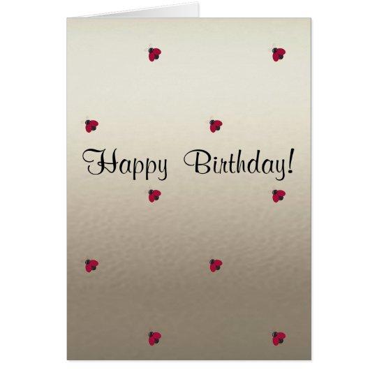 Adorable Cute ,Ladybugs,Luminous-Personalised Card