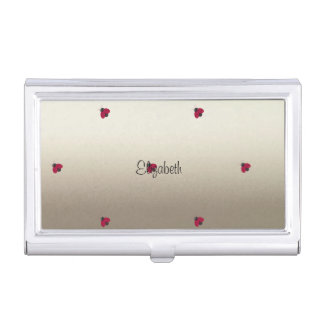 Adorable Cute ,Ladybugs,Luminous-Personalized Business Card Holder