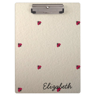 Adorable Cute ,Ladybugs,Luminous-Personalized Clipboard