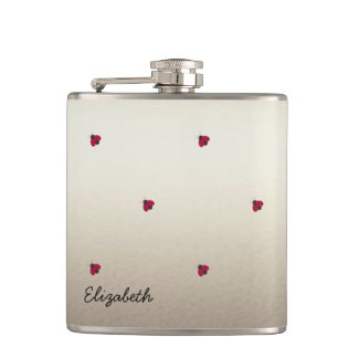 Adorable Cute ,Ladybugs,Luminous-Personalized Hip Flask