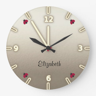 Adorable Cute ,Ladybugs,Luminous-Personalized Large Clock