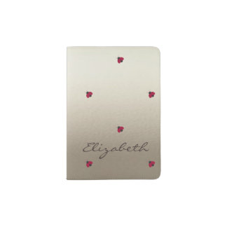 Adorable Cute ,Ladybugs,Luminous-Personalized Passport Holder