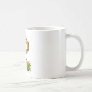 Adorable Cute Love Giraffes Heart Shaped Kissing Coffee Mug