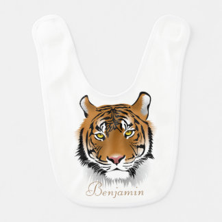 Adorable Cute Tiger -Personalized Bib