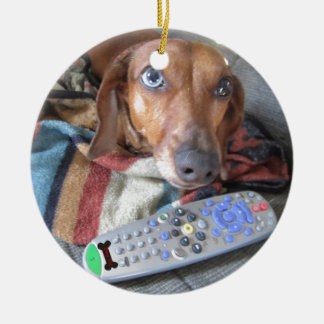 Adorable Dachshund Dog Christmas Ornament