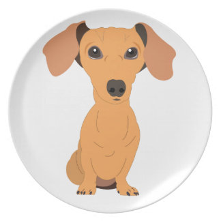 Adorable Dachshund Plate