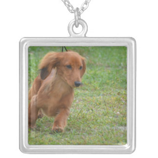 Adorable Dachshund Puppy Custom Necklace