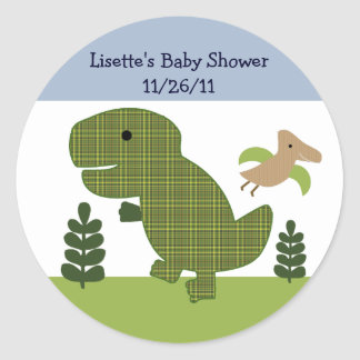 Adorable Dino/Dinosaur 2  Stickers/Envelope Seals Round Sticker