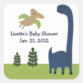 Adorable Dino/Dinosaur 3 Stickers/Envelope Seals Square Sticker