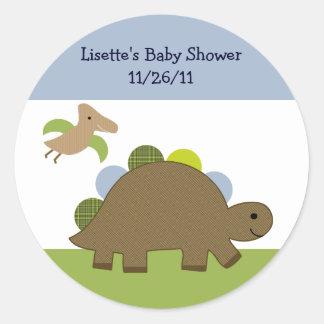 Adorable Dino/Dinosaur Stickers/Envelope Seals Round Sticker