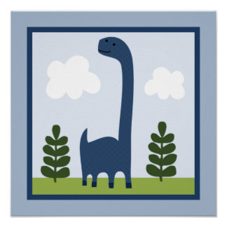 Adorable Dinosaur 2 Wall Art Poster