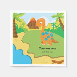 Adorable Dinosaur Disposable Napkin