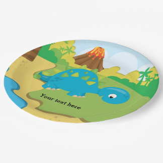 Adorable Dinosaur Paper Plate