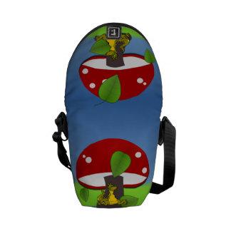 Adorable Dinosaur Under A Mushroom Courier Bag