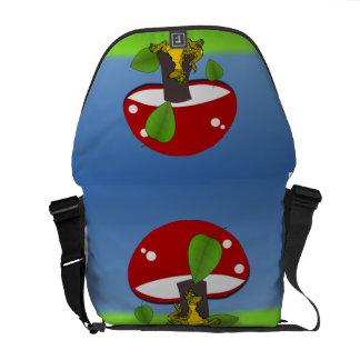 Adorable Dinosaur Under A Mushroom Messenger Bag