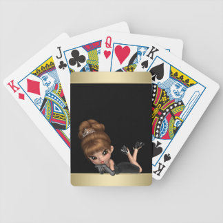 Adorable Diva Princess Bicycle Playing Cards