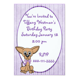 Adorable Dog Childrens Birthday Invitation