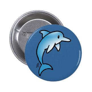 Adorable Dolphin 6 Cm Round Badge