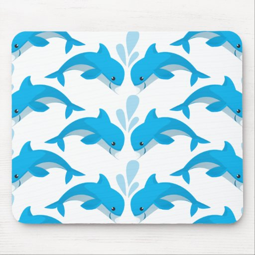 Adorable Dolphins Mouse Pads