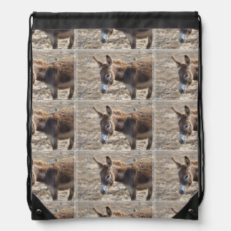 Adorable Donkey Drawstring Bag