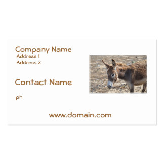Adorable Donkey Pack Of Standard Business Cards