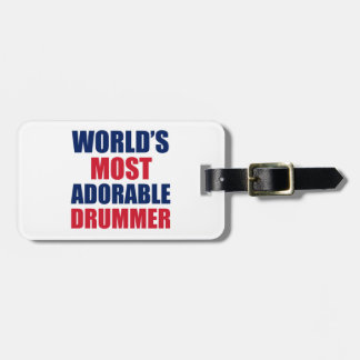 Adorable Drummer Luggage Tag