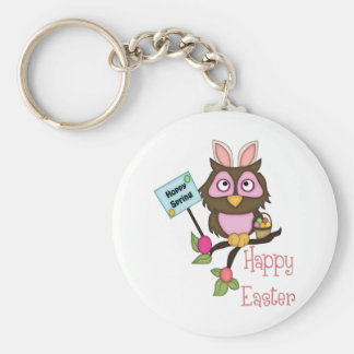 Adorable Easter Owl with Bunny Ears Keychains