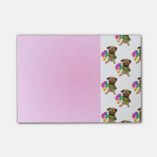 Adorable Easter, Spring Pugs Post-it® Notes