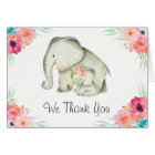 Adorable Elephants Baby Shower Thank You