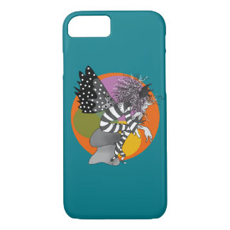 Adorable Elf Fairy Male Butterfly Turquoise Orange iPhone 7 Case