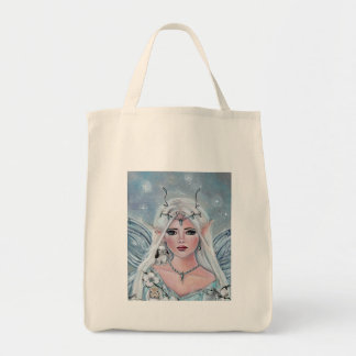 Adorable elf with bunnies totebag by Renee Lavoie Tote Bag