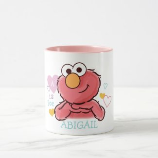 Adorable Elmo   Add Your Own Name Mug