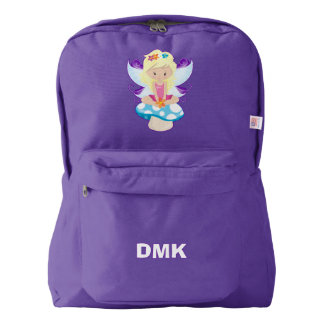 Adorable Fairy on Toadstool Personalized Backpack
