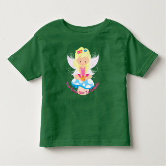 Adorable Fairy on Toadstool Too Cute Not To Cuddle Toddler T-Shirt