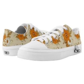 Adorable Fall Floral Unisex Low Top Zipz Shoes