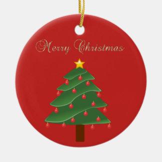 Adorable Faux Gold Merry Christmas,Christmas  Tree Christmas Ornament