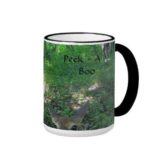Adorable Fawn Playing Peek A Boo Coffee Mug
