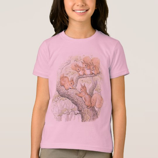 Adorable Five Squirrels Girls' T-Shirt