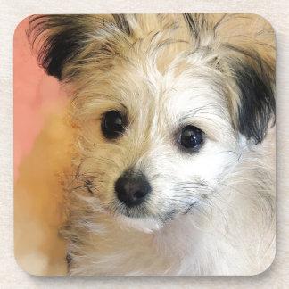 Adorable Floppy Ear Rescue Puppy Coaster