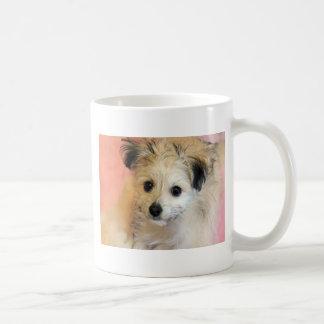 Adorable Floppy Ear Rescue Puppy Coffee Mugs