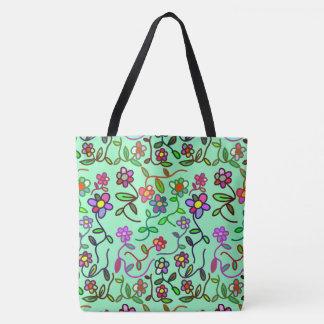 Adorable Floral Pattern Tote Bag