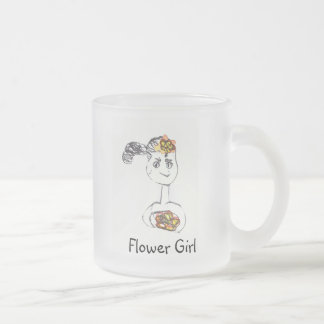 Adorable Flower Girl Frosted Glass Mug