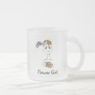 Adorable Flower Girl 10 Oz Frosted Glass Coffee Mug