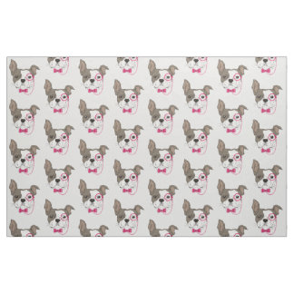 Adorable French Bulldog Fabric