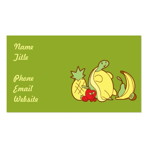 Adorable Fruit Turtle Business Card