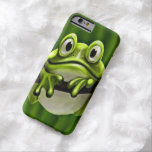 Adorable Funny Cute Green Frog In Tree Barely There iPhone 6 Case